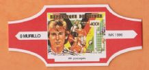 1990 World Cup Cigar Band West Germany Jurgen Klinsmann (Red)